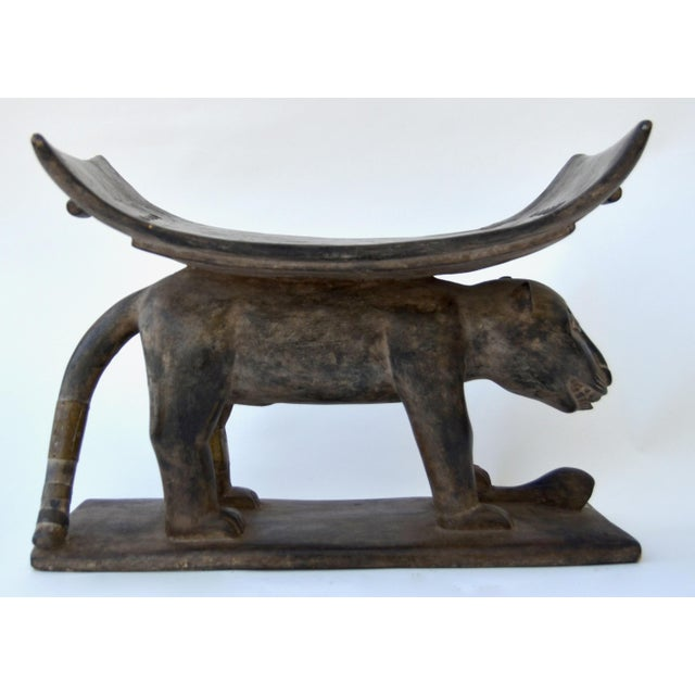 African African Ashanti Leopard Stool For Sale - Image 3 of 10