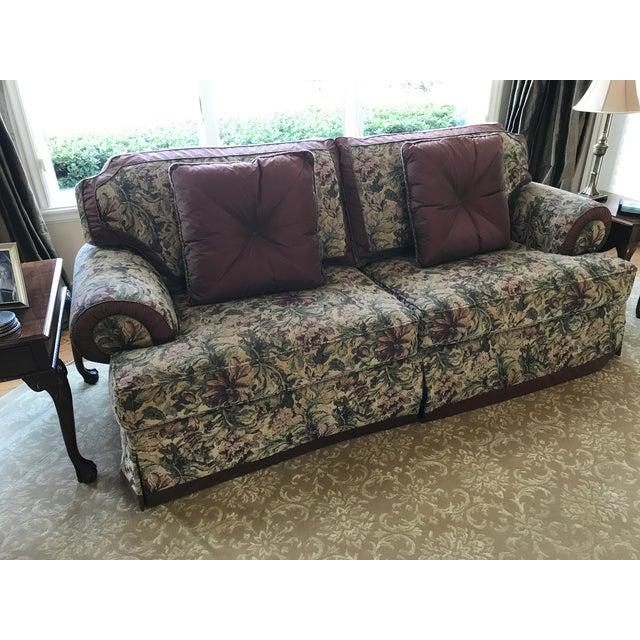 Henredon Down Filled Chenille Sofa Chairish