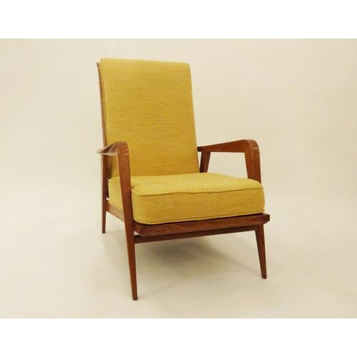 Art Deco Etienne Henri Martin Pair of Modernist Reclining Lounge Chairs in Oak, edited by Steiner For Sale - Image 3 of 9
