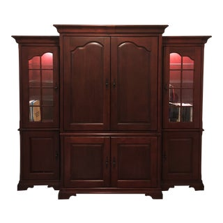 Harvetys 3-Piece Cherry-Wood Finish Entertainment Center