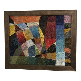 1950s Vintage Multi-Colored Glass Tile Mosaic For Sale