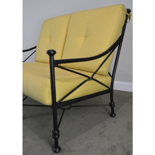 Giacometti Style Patio Love Seat by Winston For Sale - Image 12 of 13