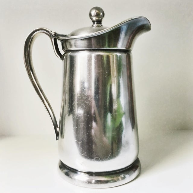 International Silver 1955 Silver Plated Insulated Pitcher From Gunter Hotel in San Antonio Tx For Sale - Image 4 of 7