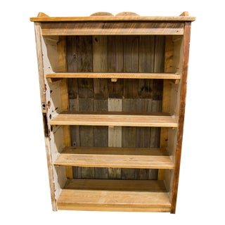 Vintage Repurposed Door Bookshelf