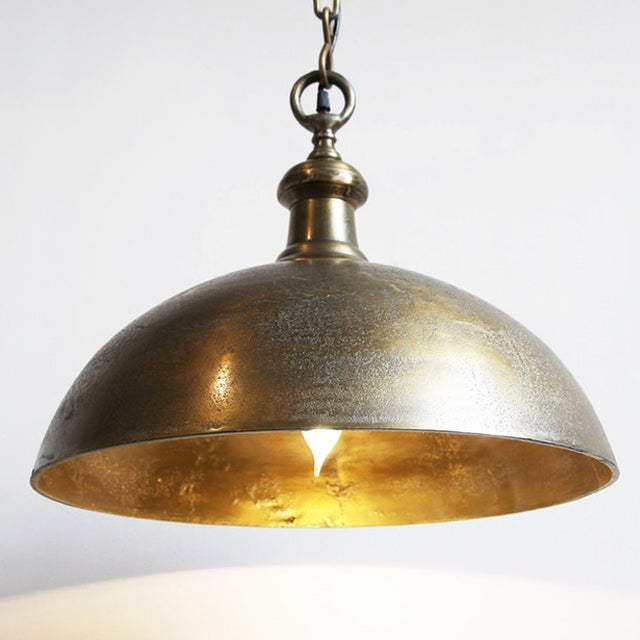 Vintage Solid Brass Bell Lamp - Image 2 of 5