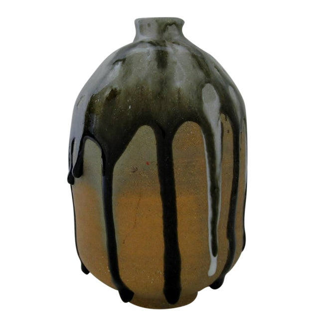 Heavy Drip Gloss Artisan Ceramic Vase - Image 1 of 7
