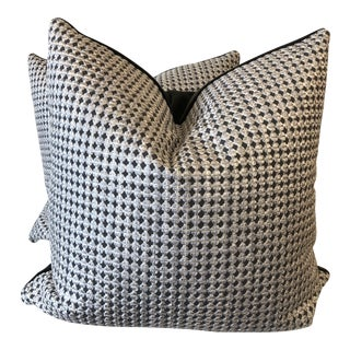 "Pollack ""Bound Together"" in Chainmail 22"" Pillows-A Pair For Sale"