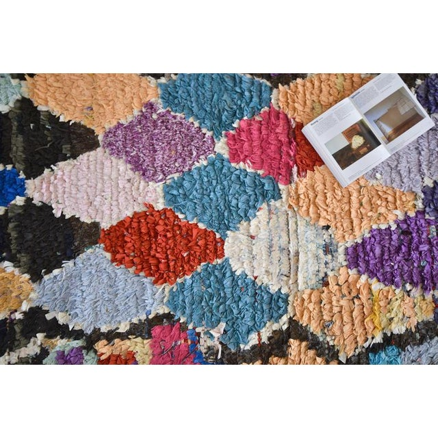 Contemporary 1970s Vintage Boucherouite Moroccan Wool Rug - 2′10″ × 6′8″ For Sale - Image 3 of 6