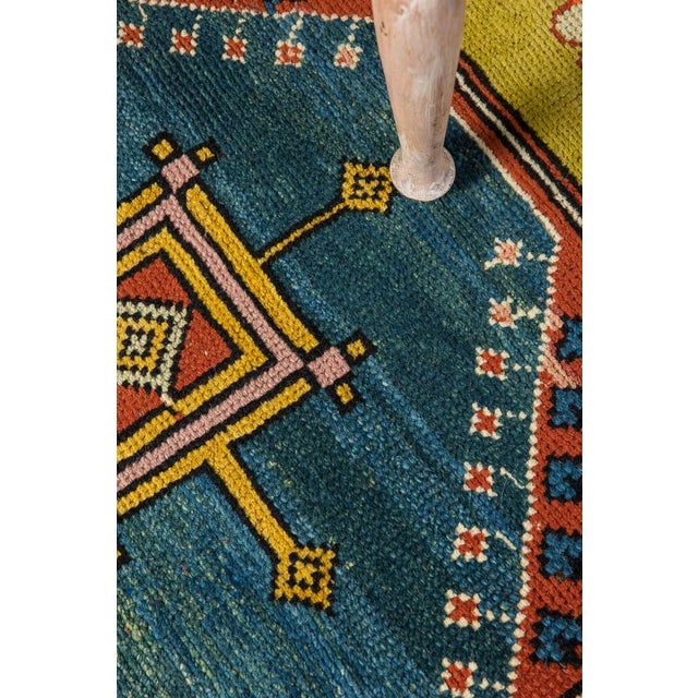 This beautiful Turkish rug is a great way to dress up, and protect, any floor in your home. This yellow rug will fit into...
