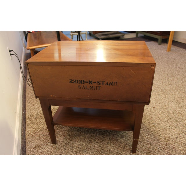 Mid-Century Danish Modern Walnut Stand/End Table - Image 5 of 11