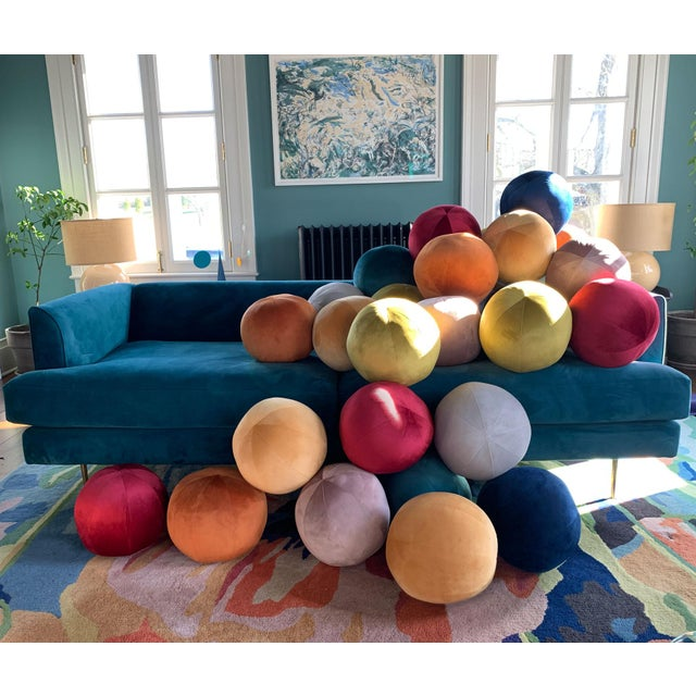 Ball Pillow, Mulberry For Sale - Image 4 of 5