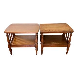 Vintage Ethan Allen Baumritter End Tables - a Pair For Sale