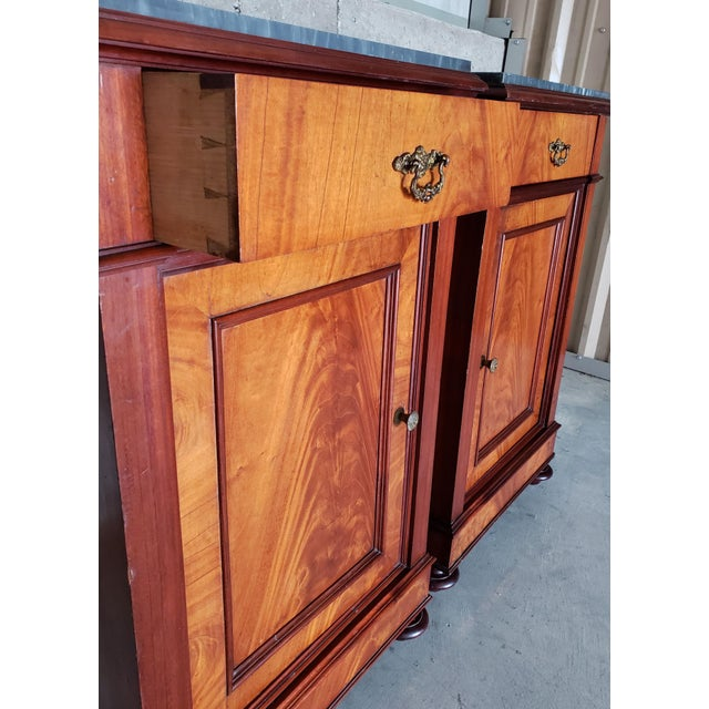 Auburn 19th Century French Crotch & Burl Mahogany Confiture Cabin For Sale - Image 8 of 12