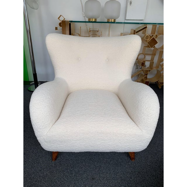 White 1950s Italian Armchairs by Melchiorre Bega - a Pair For Sale - Image 8 of 13