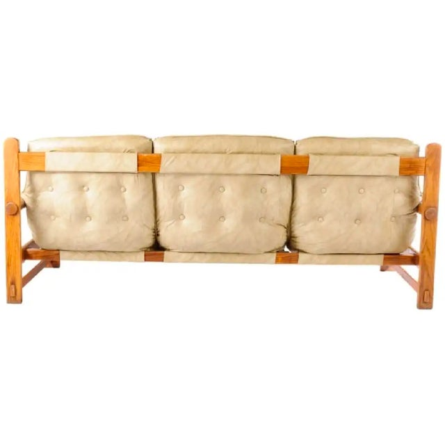 Percival Lafer Percival Lafer Style Leather Sofa For Sale - Image 4 of 6