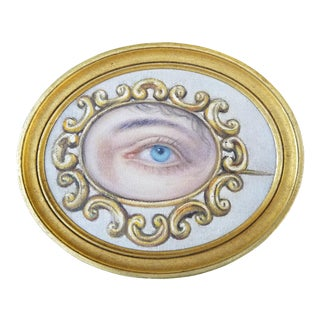 Victorian Lovers Eye Portrait Painting For Sale