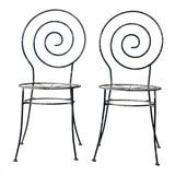 Image of Antique Art Deco Garden Chairs - Set of 2 For Sale