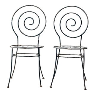 Antique Art Deco Garden Chairs - Set of 2 For Sale