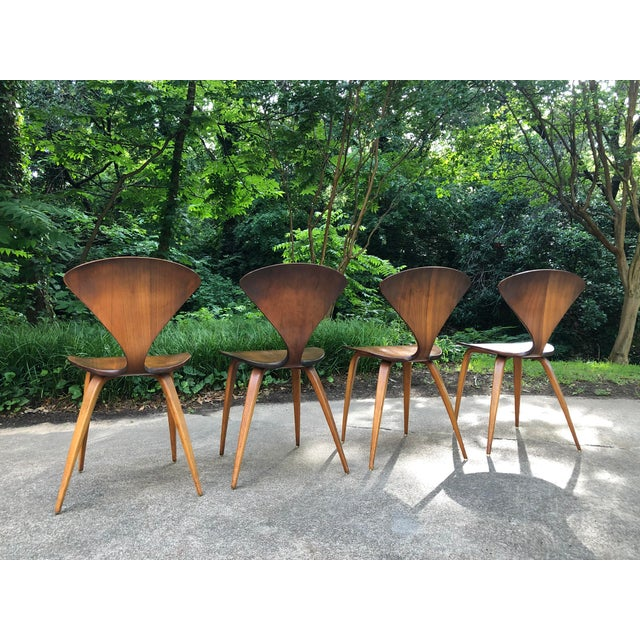 Brown Norman Cherner for Plycraft Chairs - Set of 4 For Sale - Image 8 of 13