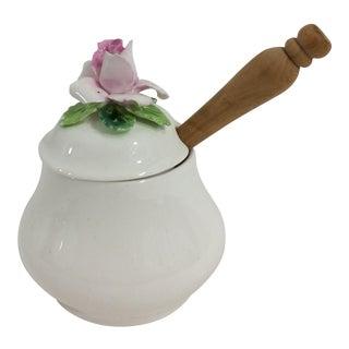 Enligsh Bone China Salt Cellar with Flowers For Sale
