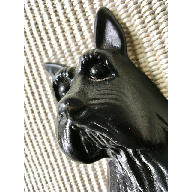 Vintage Black Cast Iron Scottish Terrier Doorstop/Bookend For Sale - Image 4 of 8