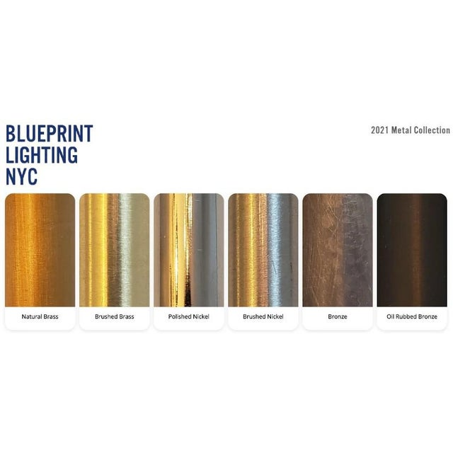 Metal Tuxedo Wall Sconce in Oil-Rubbed Bronze & Mint Green Enamel, Blueprint Lighting For Sale - Image 7 of 7
