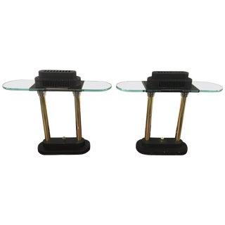 Pair of Postmodern Robert Sonneman Table or Desk Lamps for George Kovacs For Sale