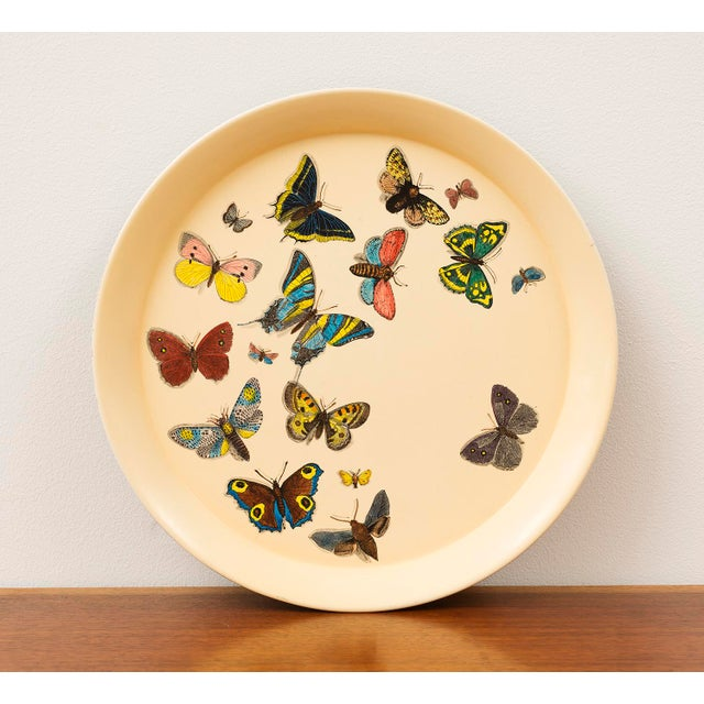 1950s Piero Fornasetti Butterfly Motif Serving Tray For Sale - Image 9 of 9