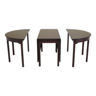 1960s Traditional Kittinger CW-33/34 Mahogany Banquet Dining Table For Sale