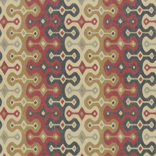 Sample - Schumacher X Martyn Lawrence Bullard Darya Ikat Sidewall Wallpaper in Spice For Sale