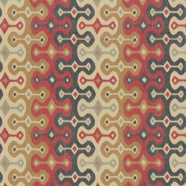Sample - Schumacher X Martyn Lawrence Bullard Darya Ikat Sidewall Wallpaper in Spice For Sale