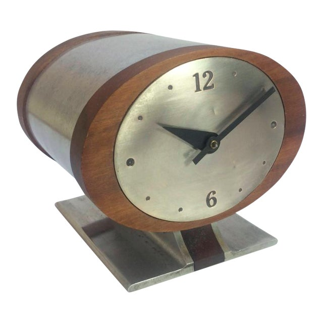 Metal Vintage Nelson Style Sessions Desk Clock For Sale - Image 7 of 7