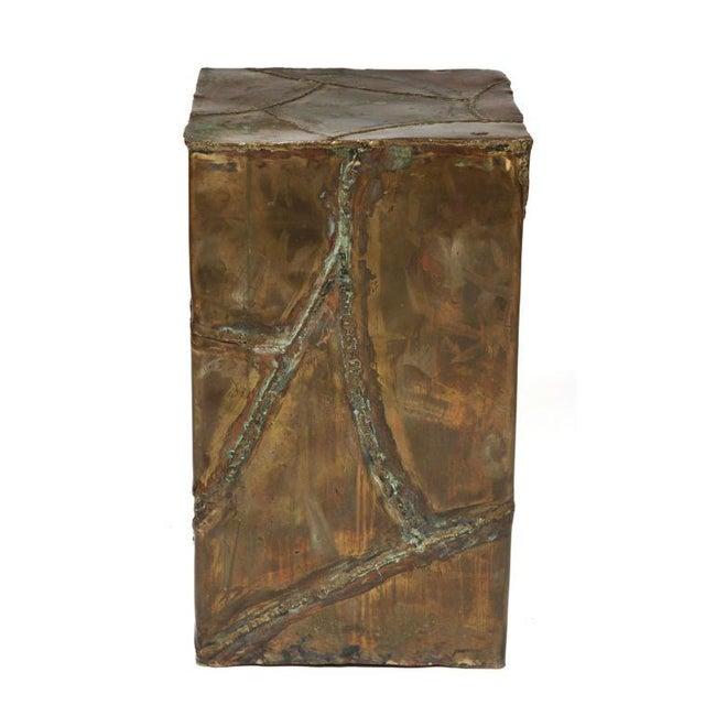 1970s Silas Seandel Brutalist Patchwork Column Pedestal For Sale - Image 5 of 8