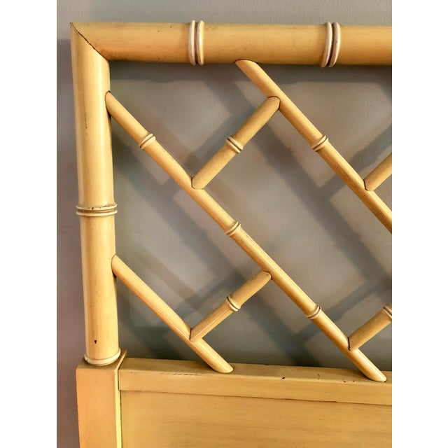 Henry Link Chippendale Yellow Bamboo King Size Headboard - Image 3 of 7