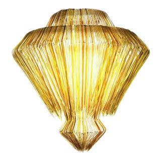 Brilli F Chandelier in Gold Resin by Jacopo Foggini For Sale