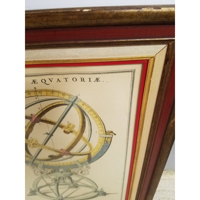 Vintage Hand Colored Armillary Prints - a Pair - Image 6 of 7