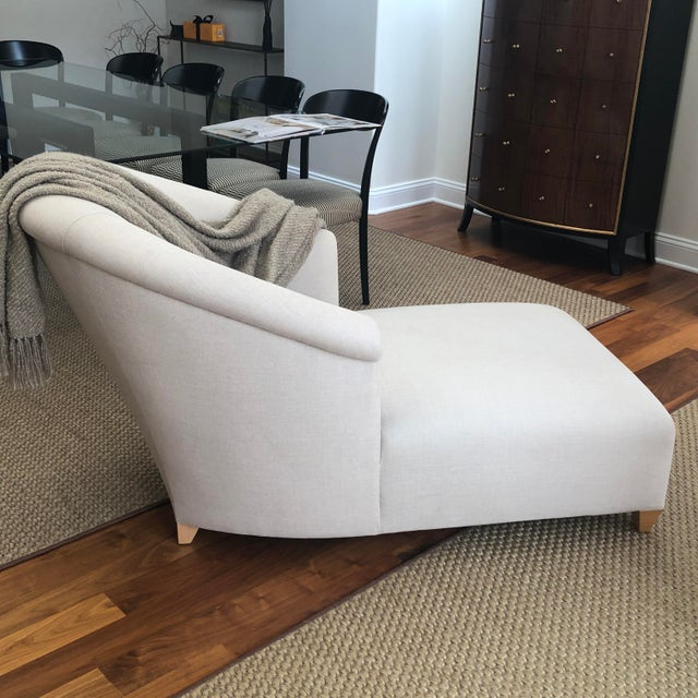 2000 - 2009 Donghia Plato Chaise in Flax Linen For Sale - Image 5 of 13