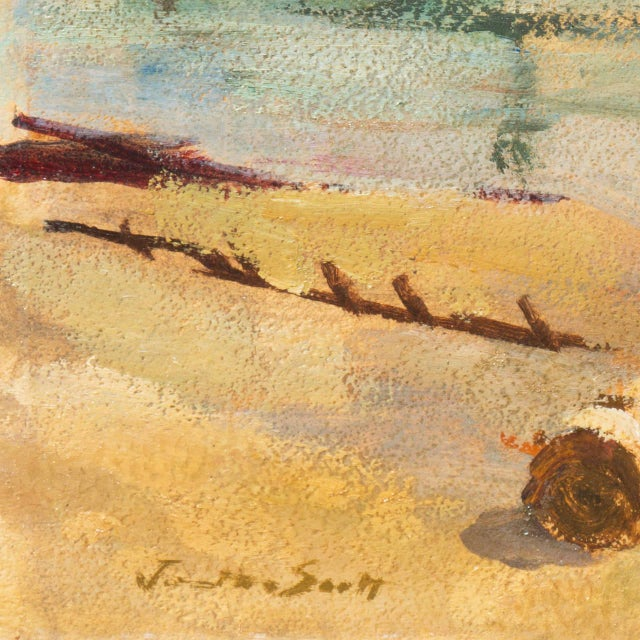 'Harbor Mist' by Jonathan Scott Circa 1960, Laguna Beach Art Association, Aws, Pasadena Art Museum For Sale - Image 4 of 11