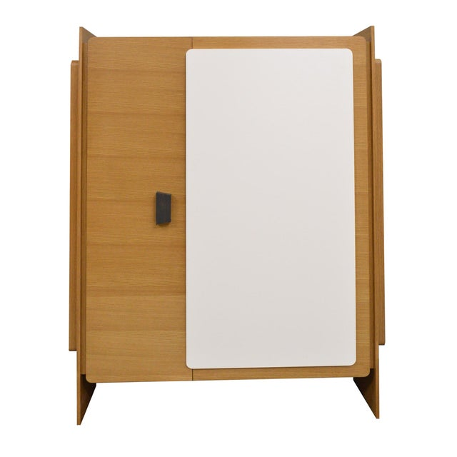 Modern Custom Designed Lacquered Wood Armoire - Image 1 of 5