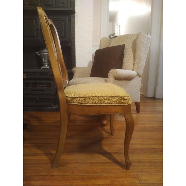 1960s 1960s French Country Gold Maple Side Chair For Sale - Image 5 of 9
