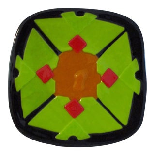Mid-Century Fused Art Glass Dish For Sale