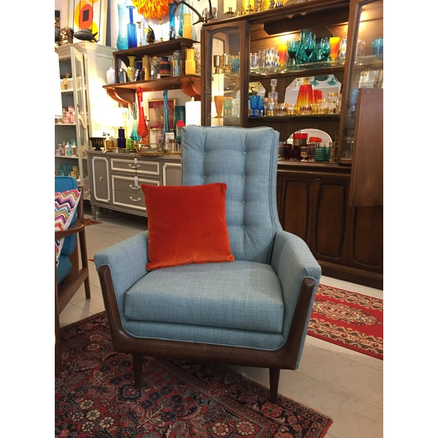 Restored Adrian Pearsall High Back Chair - Image 4 of 4
