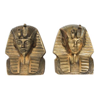 Brass King Tut Bookends - a Pair