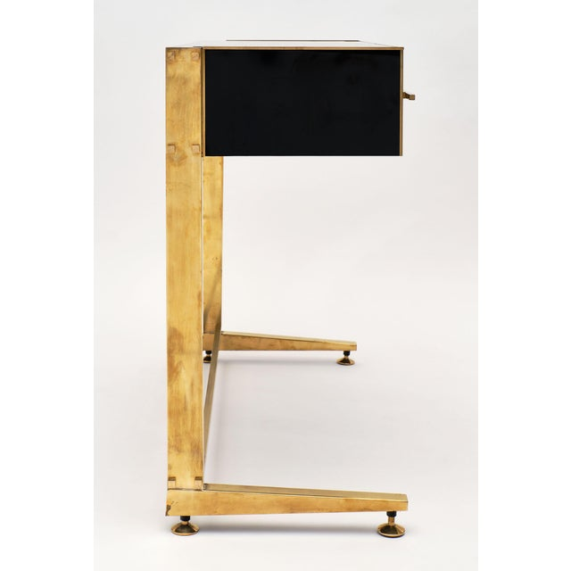 Black Murano Glass Covered Console Tables - a Pair For Sale - Image 8 of 11
