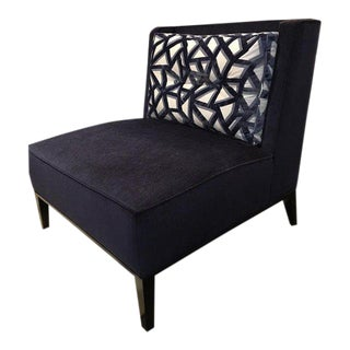 Blue Velvet Slipper Chair