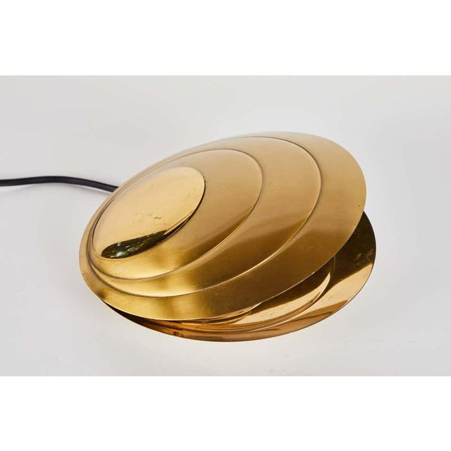 1960s Brass Clamshell Table Lamp by Angelo Brotto For Sale - Image 10 of 13