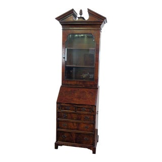 Theodore Alexander Chippendale Style Secretary Desk For Sale