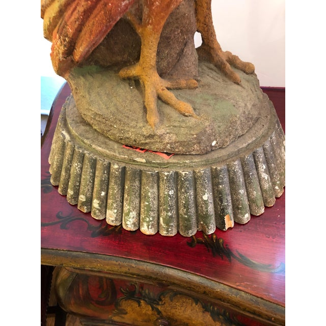 Dramatic Rooster Lamps From Montana Lodge With Shades - a Pair For Sale - Image 11 of 13