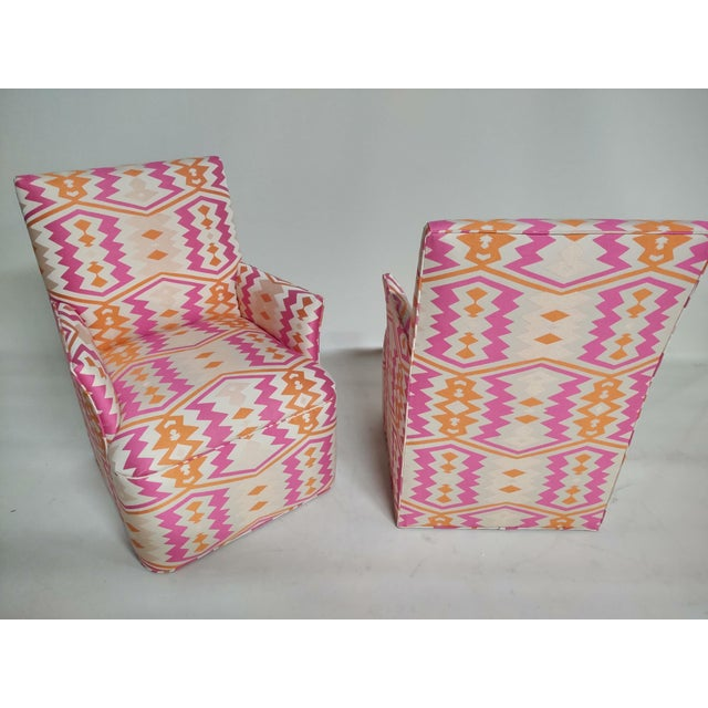 1920s Bright Geometric Arm Chairs - a Pair For Sale In Raleigh - Image 6 of 11