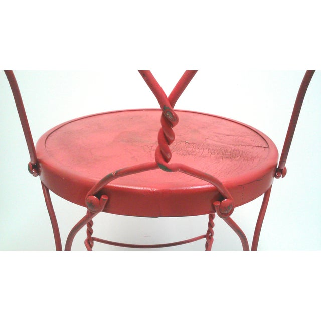 Red Iron Ice Cream Cafe Chair - Image 10 of 10